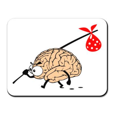 Коврик для мыши  Мозг уходит
