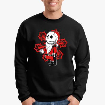Свитшот Санта скелет