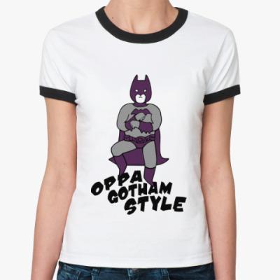 Женская футболка Ringer-T Gotham style