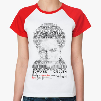 Женская футболка реглан Edward Cullen