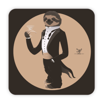 Animal Fashion | S is for Sloth in Smoking