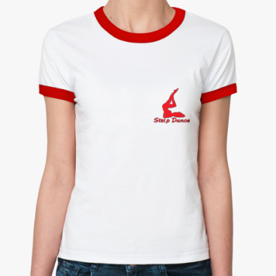 Женская футболка Ringer-T StripDance