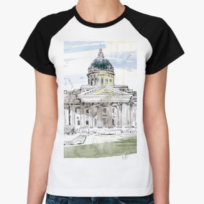 Женская футболка реглан Казанский собор