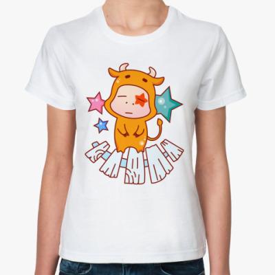 Классическая футболка Знак зодиака Телец