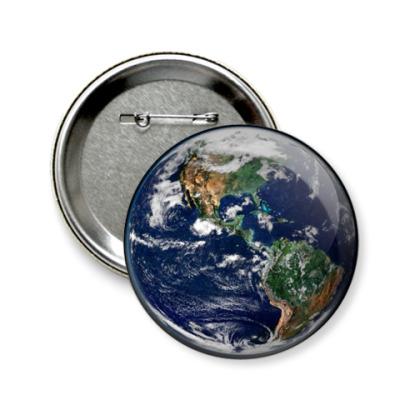 Значок 58мм Земля
