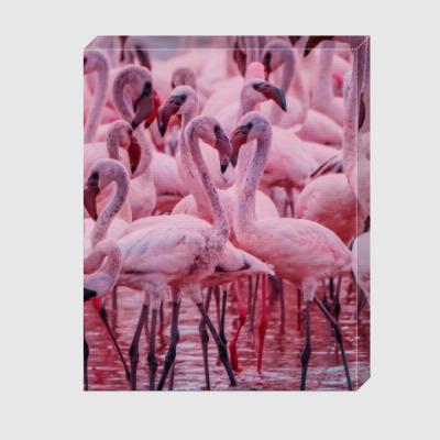 Холст Flamingos of Bogoria Lake