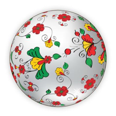 Костер (подставка под кружку) Ёлочный шар