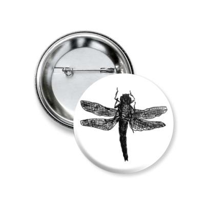 Значок 37мм Dragonfly