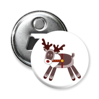Магнит-открывашка Северный олень