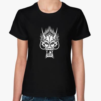 Женская футболка Голова дракона
