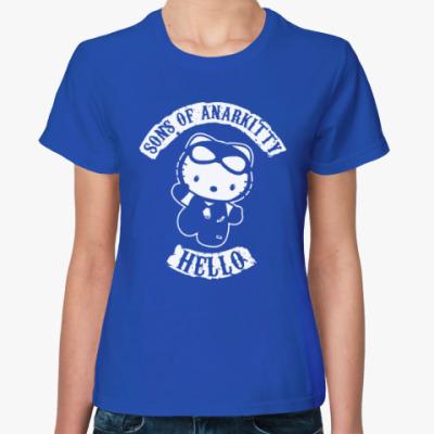 Женская футболка Sons of Anarkitty
