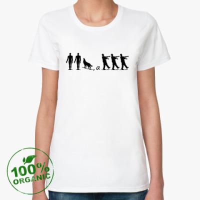 Женская футболка из органик-хлопка Зомбилэнд