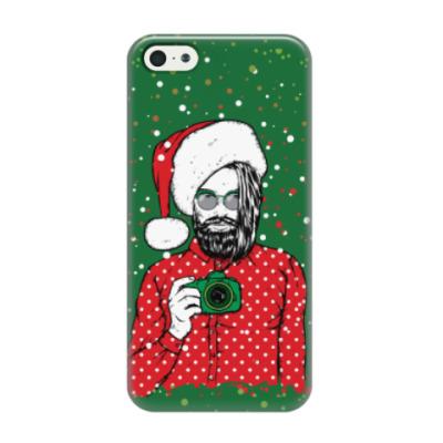 Чехол для iPhone 5/5s Санта Хипстер