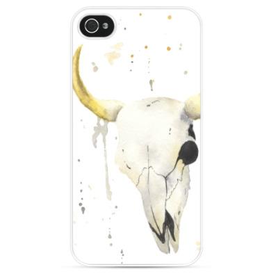 Чехол для iPhone Декоративный череп коровы