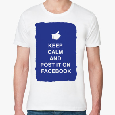 Футболка из органик-хлопка Keep calm and post