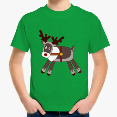 Детская футболка Cute reindeer