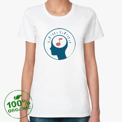 Женская футболка из органик-хлопка Music in my mind