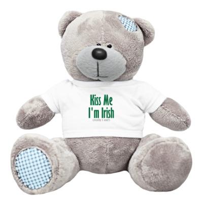 Плюшевый мишка Тедди 'Kiss me I'am irish'