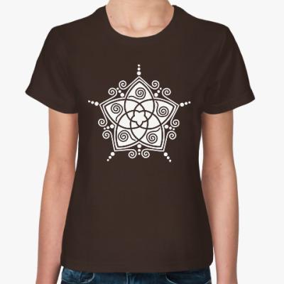 Женская футболка узорная звезда