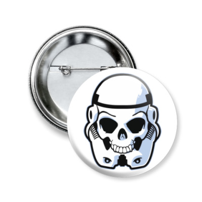 Значок 50мм Trooper Skull