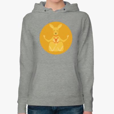 Женская толстовка худи Animal Zen: K is for Kangaroo