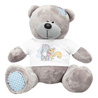 Плюшевый мишка Тедди Миша-Белка-Любовь