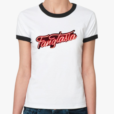Женская футболка Ringer-T True blood, fangtasia