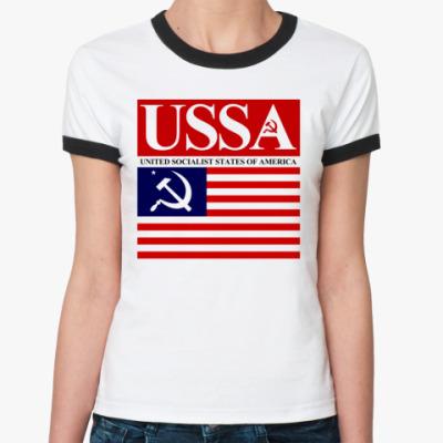 Женская футболка Ringer-T USSA