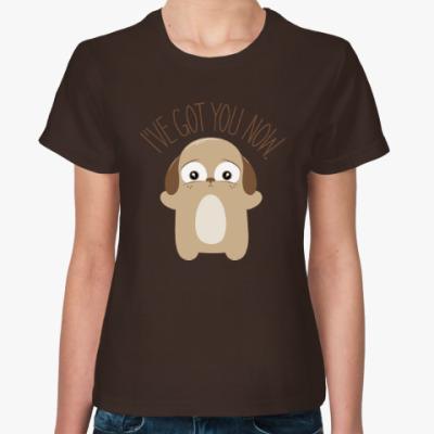 Женская футболка Держу тебя