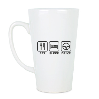 Чашка Латте Eat Sleep Drive