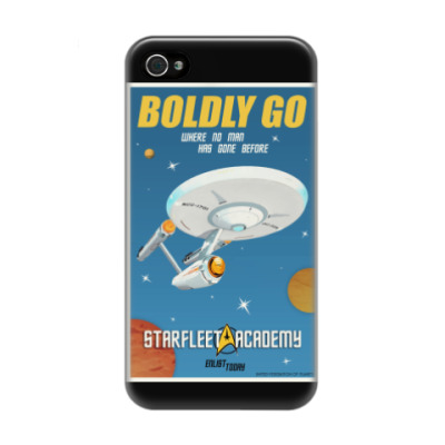 Чехол для iPhone 4/4s Star Trek Boldly Go