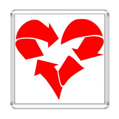 Магнит Recycle Heart