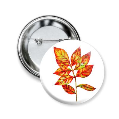 Значок 50мм Осенний лист