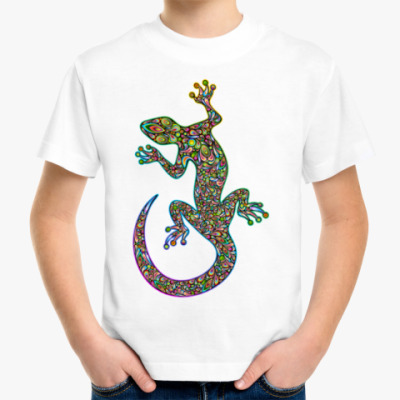 Детская футболка Цветная ящерица
