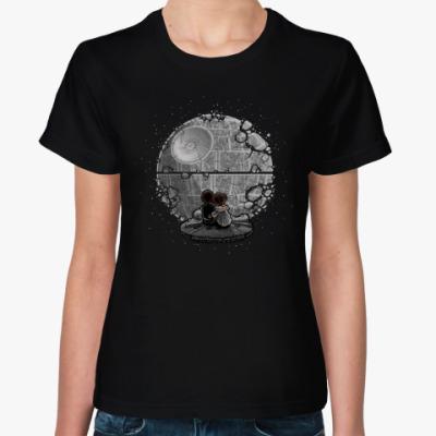 Женская футболка Звезда Смерти (Звездные Войны)