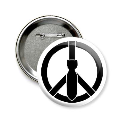 Значок 58мм Peace