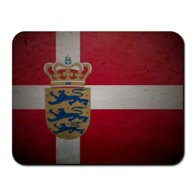 Коврик для мыши Датский флаг