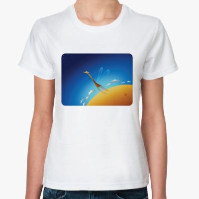 Классическая футболка Летающий Жираф