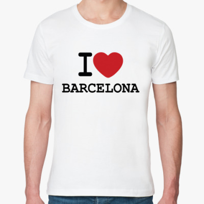 Футболка из органик-хлопка I Love Barcelona