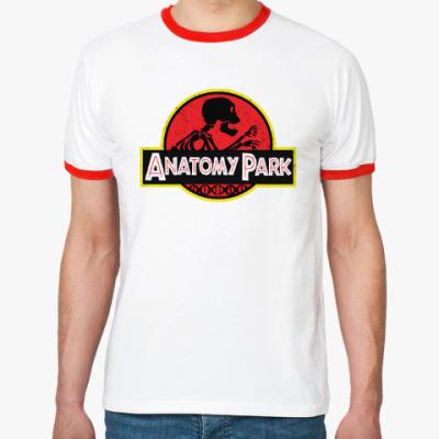 Футболка Ringer-T Anatomy Park