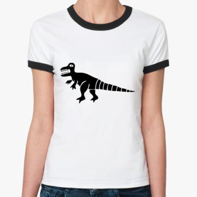 Женская футболка Ringer-T Дракон Фред