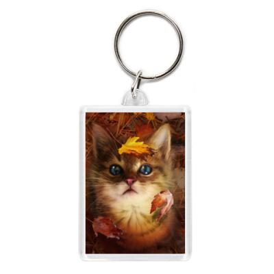 Брелок Осенний котенок