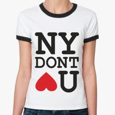 Женская футболка Ringer-T NEW YORK