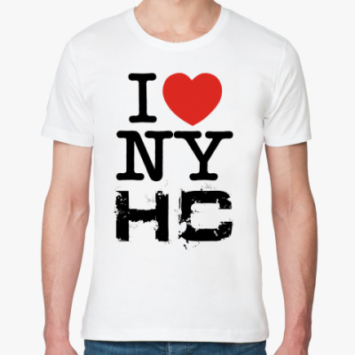 Футболка из органик-хлопка I love NYHC