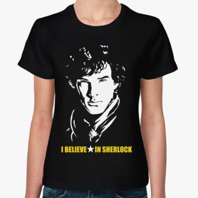 Женская футболка Шерлок(Sherlock)