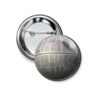 Значок 37мм Star Wars звезда смерти