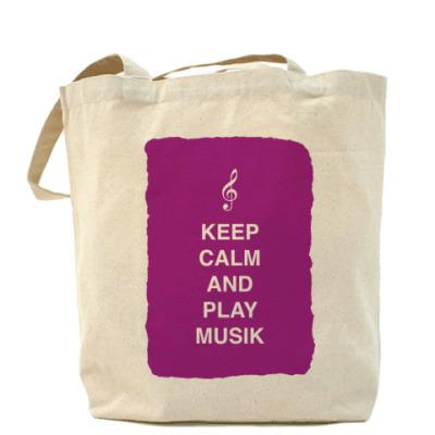 Сумка Keep calm and play music