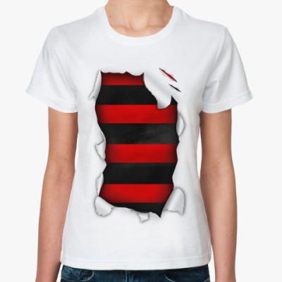 Классическая футболка  'Фредди крюгер'