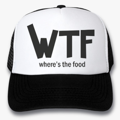Кепка-тракер WTF - Where's the food