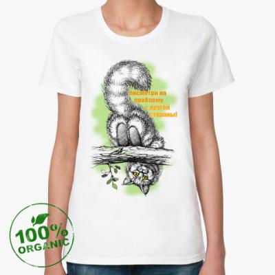 Женская футболка из органик-хлопка  'Посмотри!'
